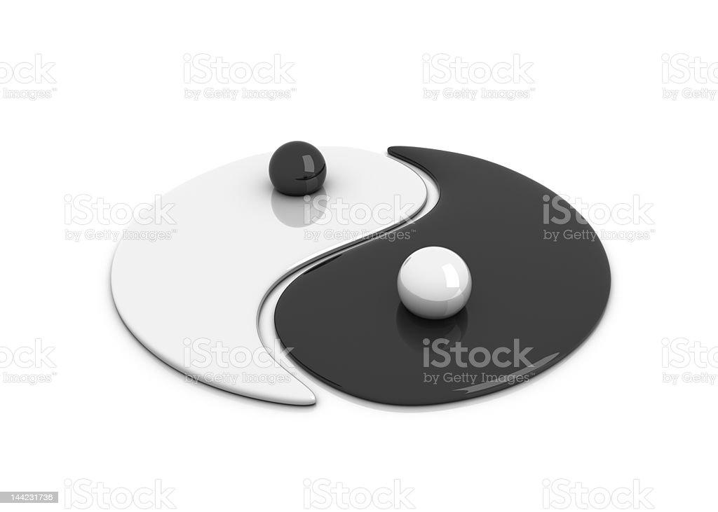 'Yin and Yang' sign royalty-free stock photo