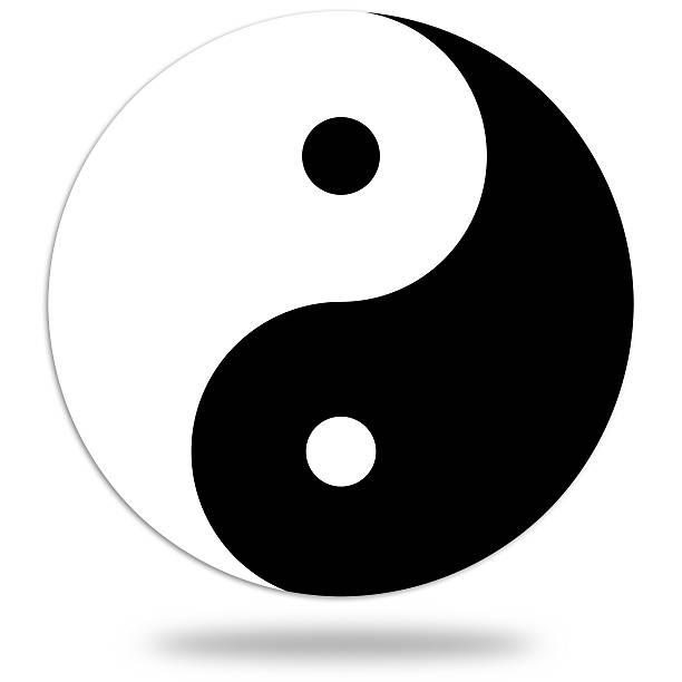 yin and yang symbol - yin yang symbol stock pictures, royalty-free photos & images