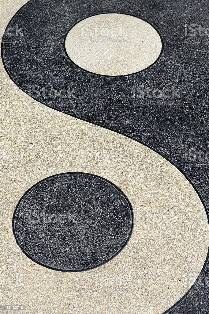Yin and Yang Symbols Texture Backgrounds stock photo