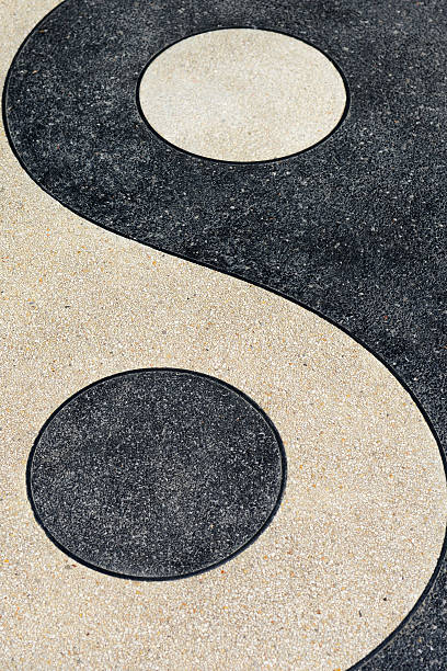 yin and yang symbols texture backgrounds - yin yang symbol stock pictures, royalty-free photos & images