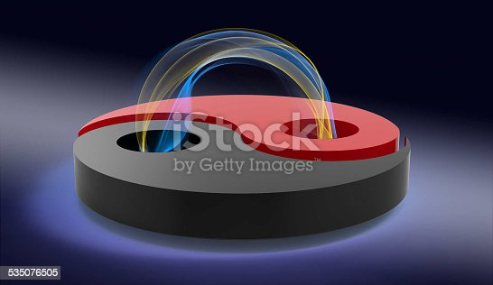 istock yin and yang with plasma loop 535076505