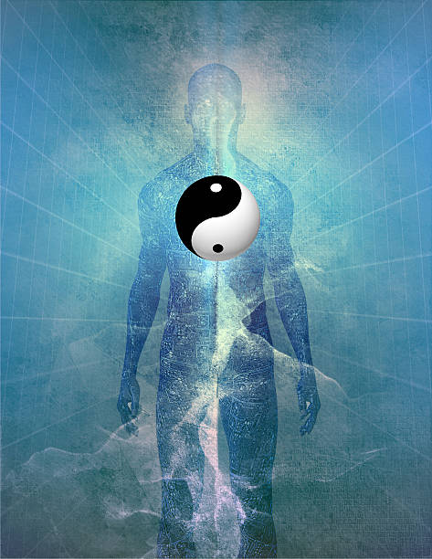 yin yang human - yin yang symbol stock pictures, royalty-free photos & images