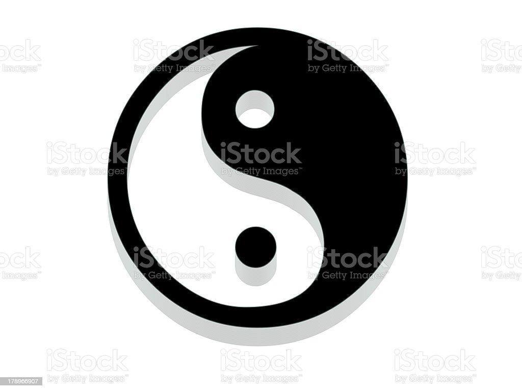 Yin Yang Icon. stock photo