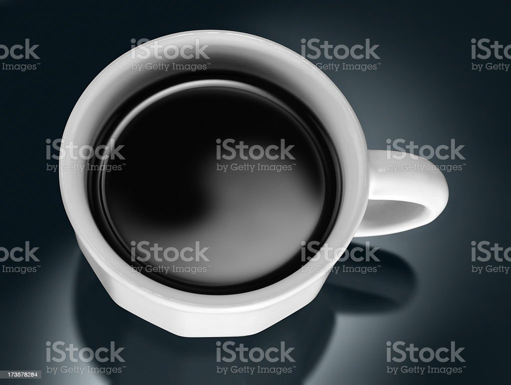 Yin Yang in the Coffee royalty-free stock photo
