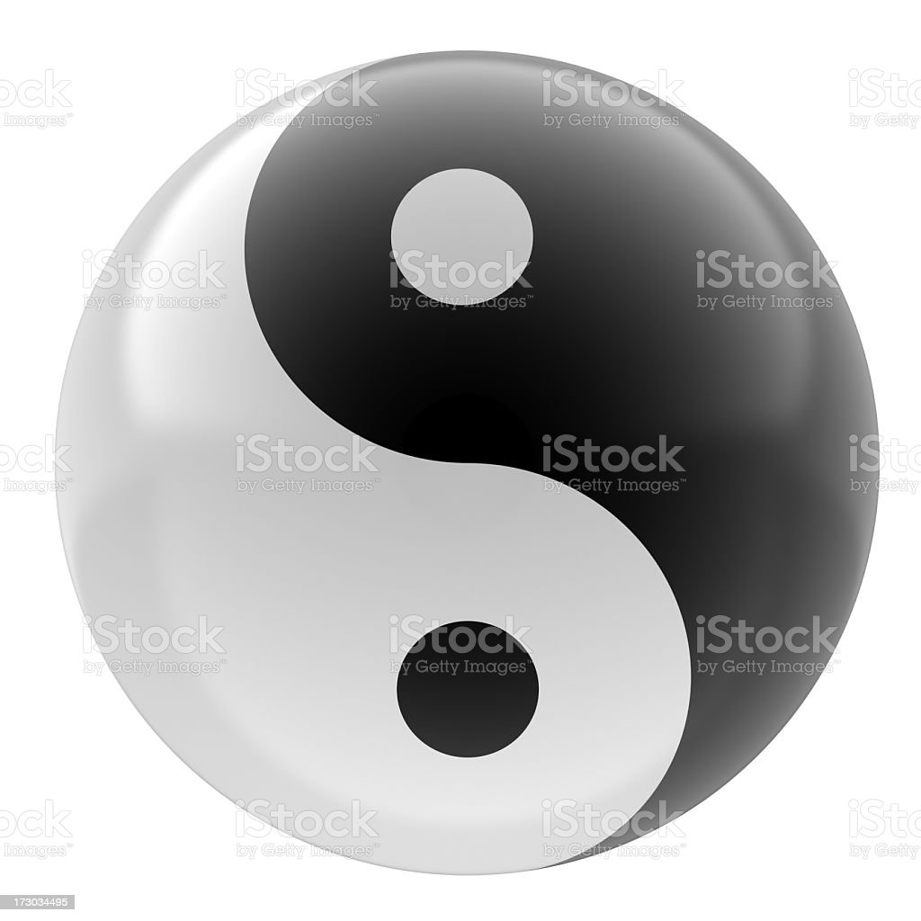 yin yang stock photo