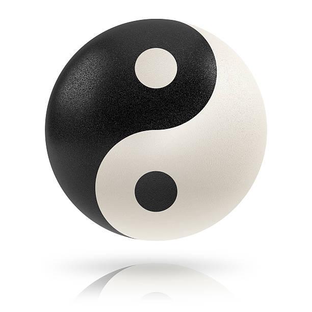 yin yang. - yin yang symbol stock pictures, royalty-free photos & images