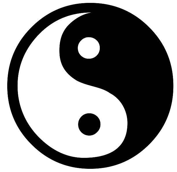 yin yang - yin yang symbol stock pictures, royalty-free photos & images