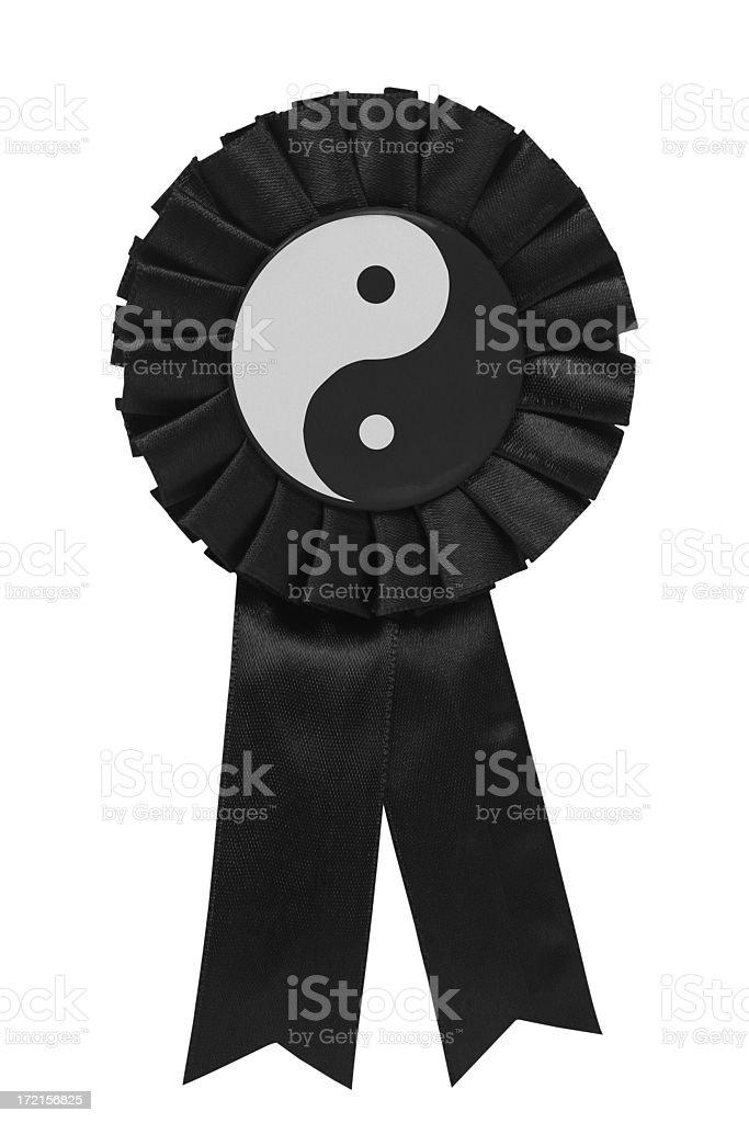 Yin yang ribbon stock photo