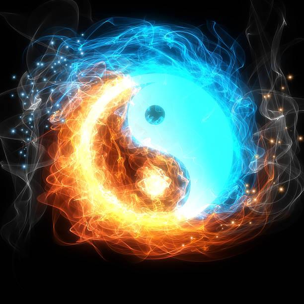 yin yang sign - yin yang symbol stock photos and pictures