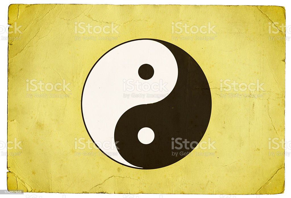 Yin Yang Symbol royalty-free stock photo