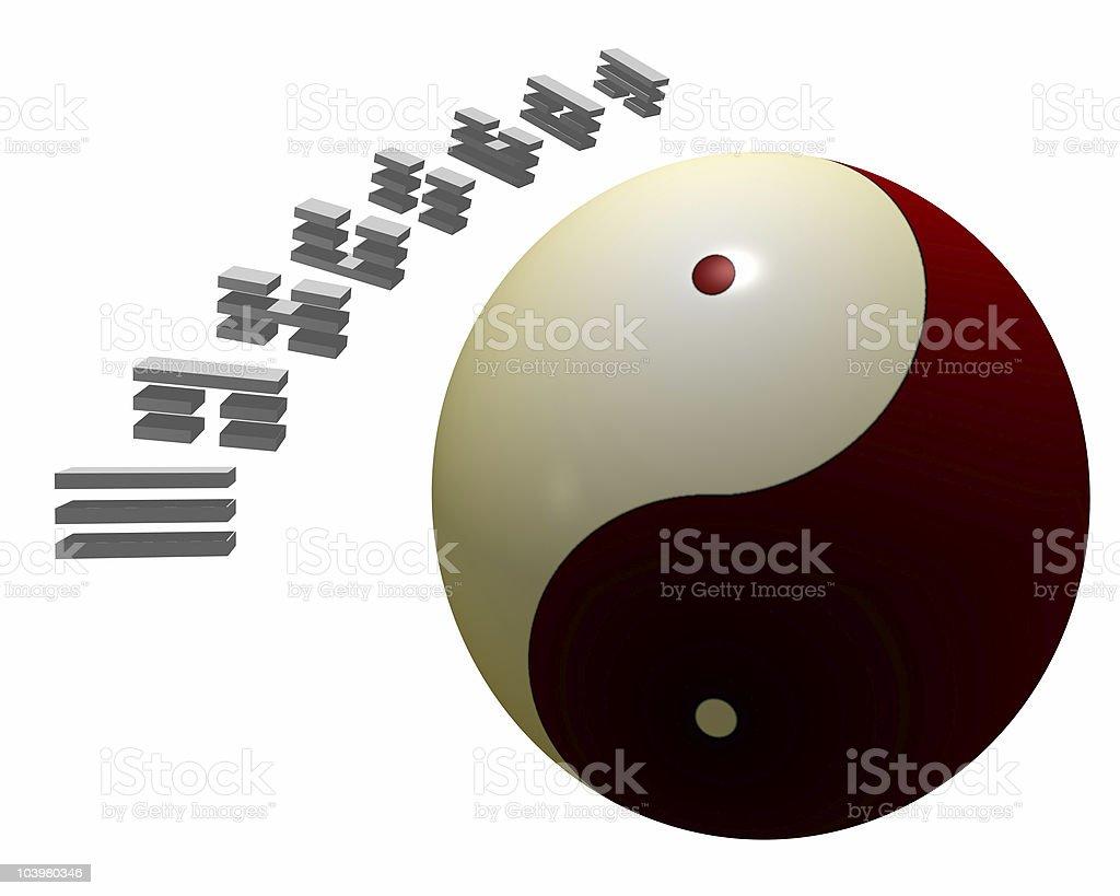 Yin Yang & Trigrams stock photo