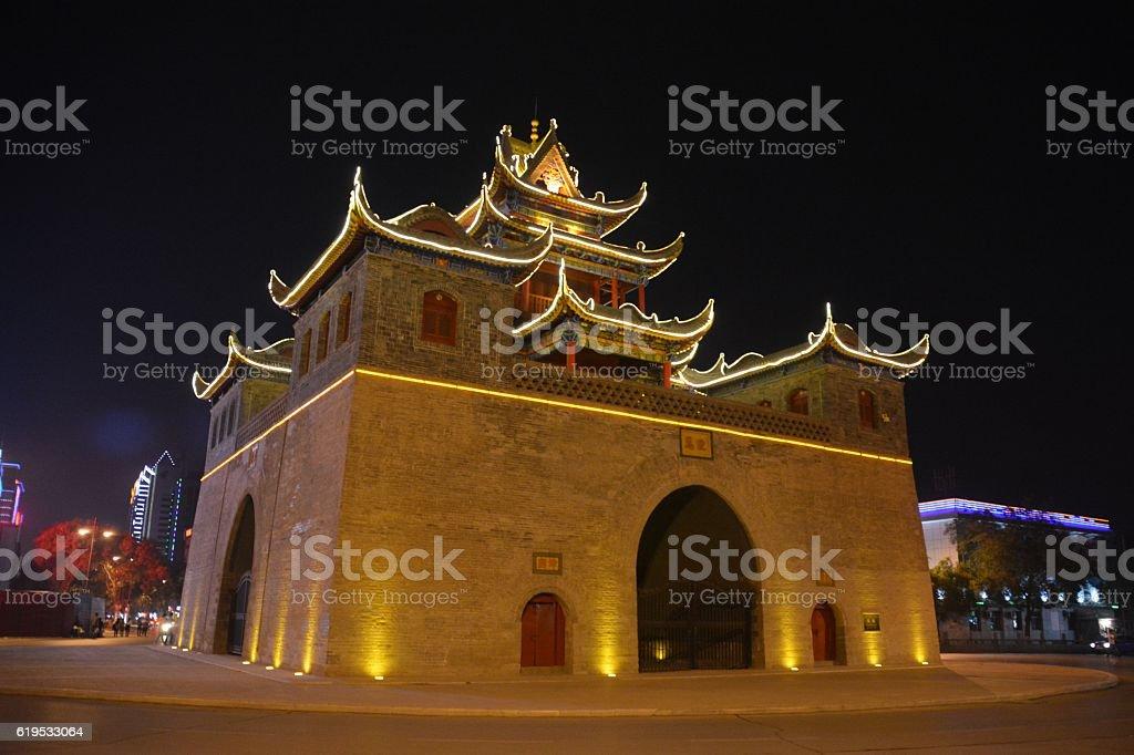 Yinchuan Drum Tower, Ningxia, China stock photo