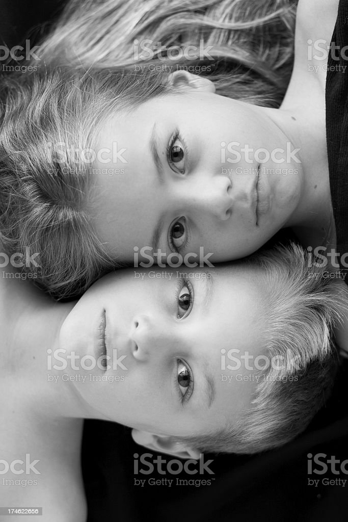 Ying-Yang Siblings royalty-free stock photo