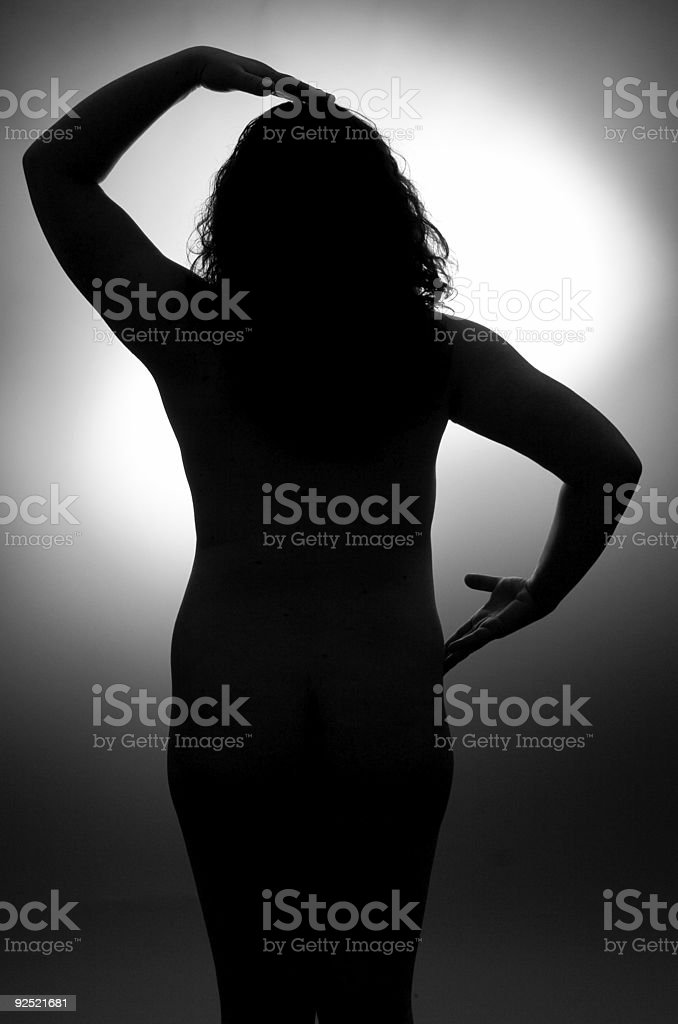 YinYang Silhouette stock photo