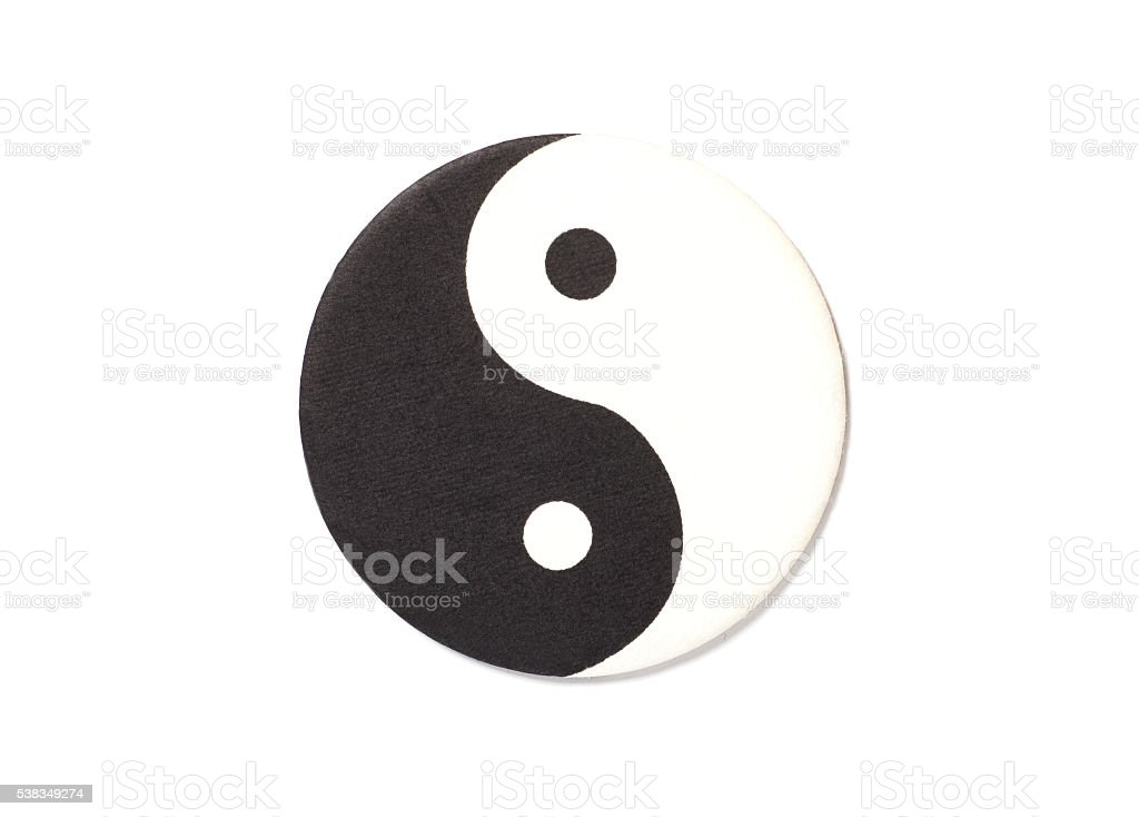 Yin-Yang symbol made of paper stock photo