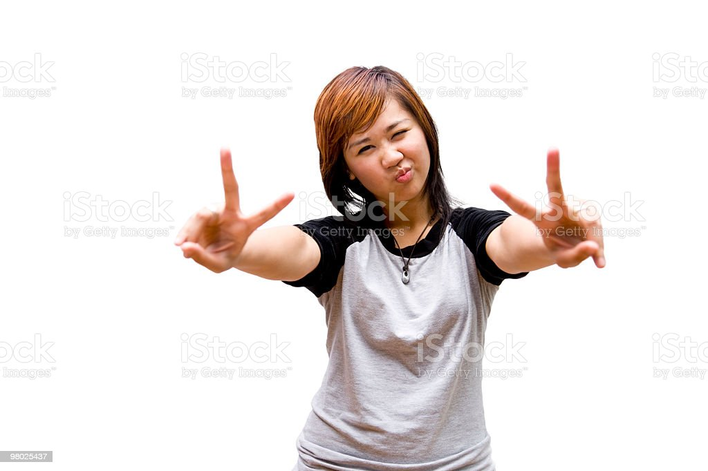 PEACE Yo! royalty-free stock photo