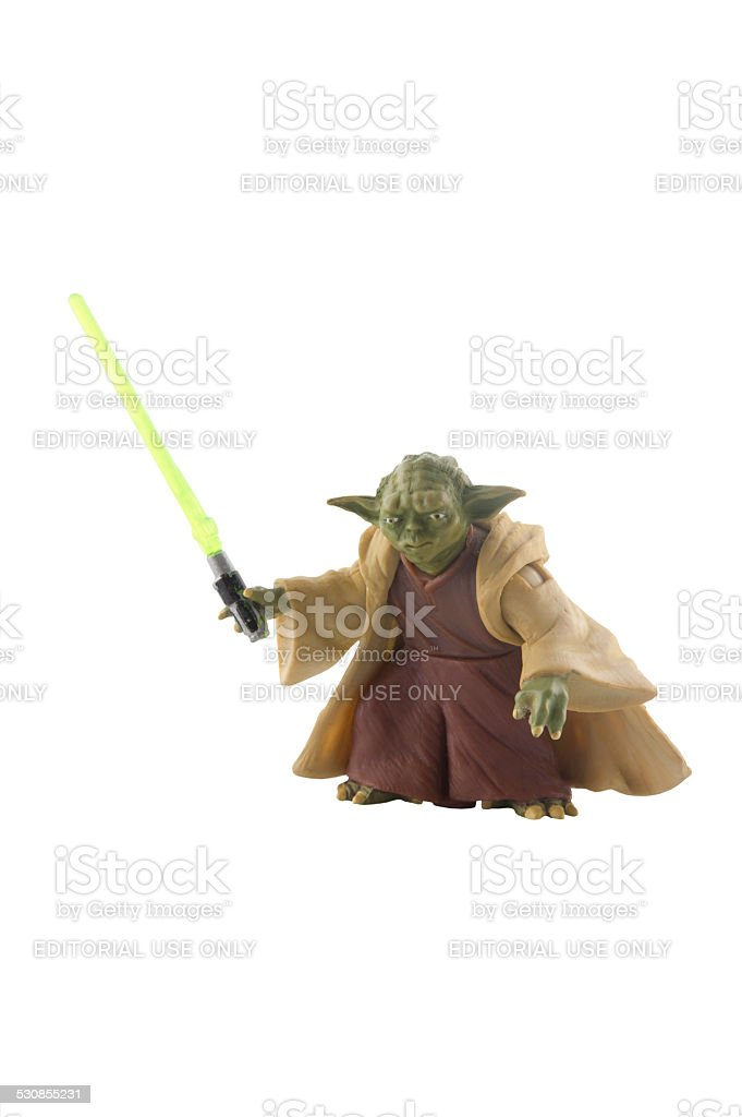 Yoda Action Figure stock photo