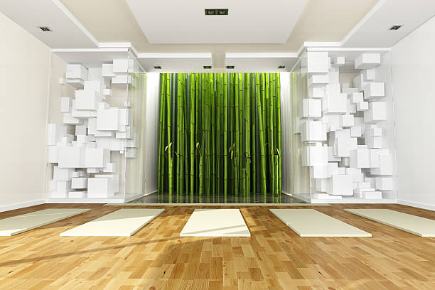 Yoga and art  yoga studio stock pictures, royalty-free photos & images