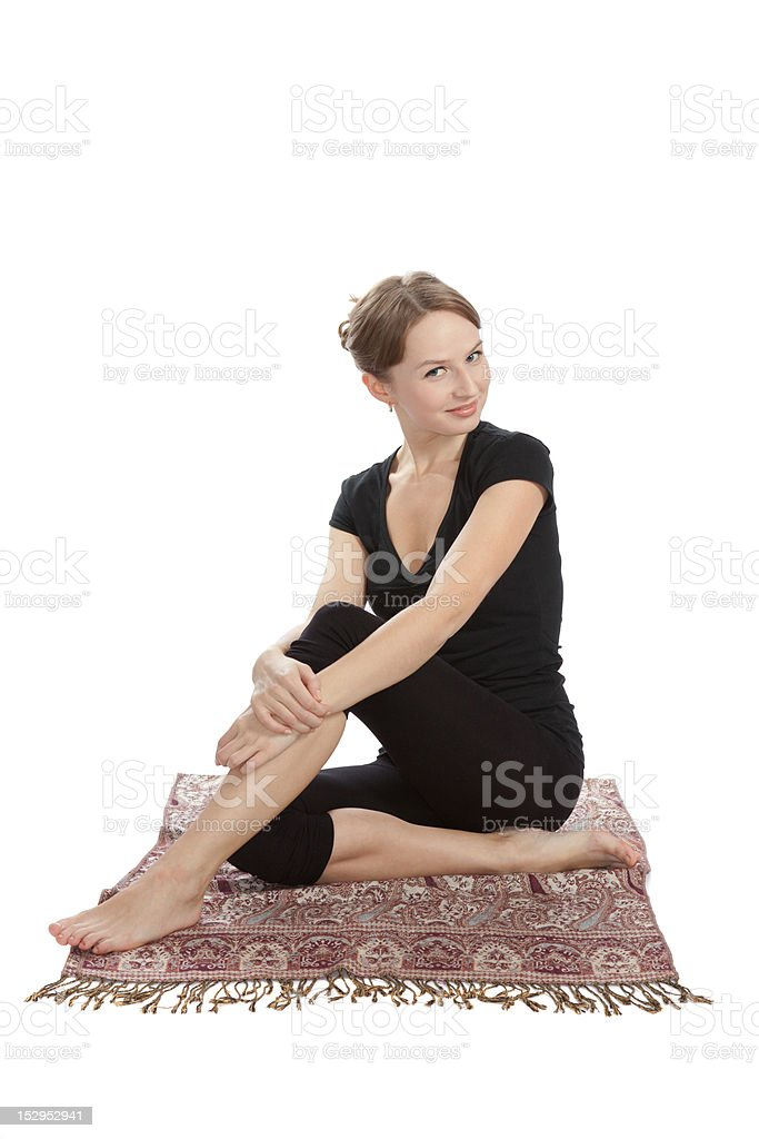 Yoga and fitness. royalty-free stock photo