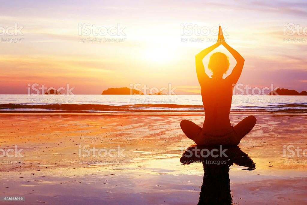 yoga and healthy lifestyle background stock photo