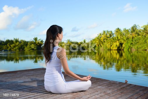 istock Yoga and Lotus Position 165174573