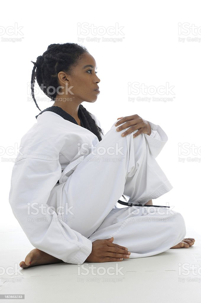 Yoga and Martial arts stock photo