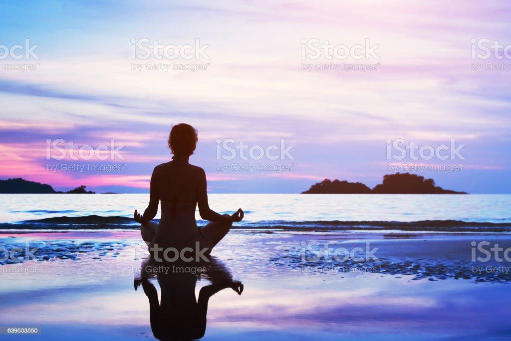 yoga and meditation background stock photo