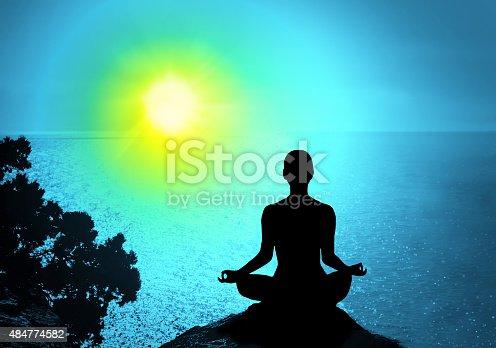 istock Yoga and meditation. 484774582