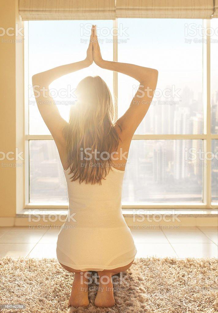 Yoga at Home royalty-free stock photo