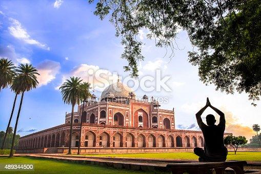 istock Yoga at Humayun's Tomb, Delhi, India - CNGLTRV1109 489344500