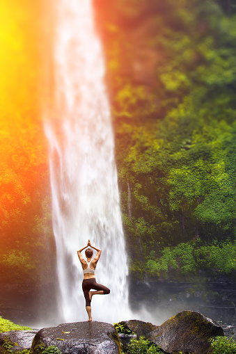 istock Yoga at the waterfall 503159210
