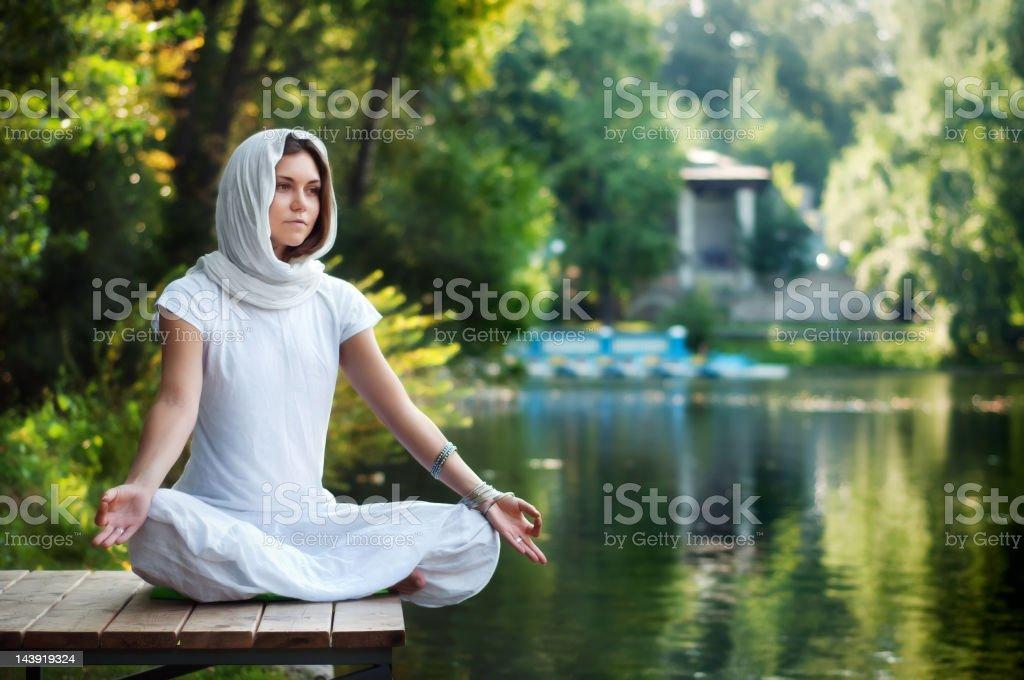 Yoga balance meditation stock photo