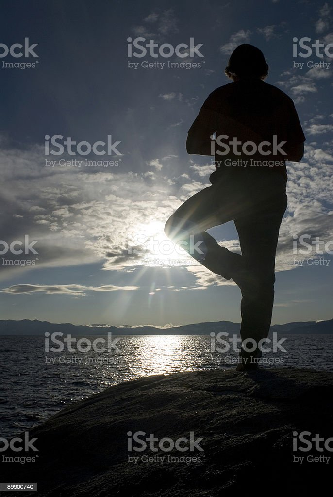 Yoga balance royalty-free stock photo