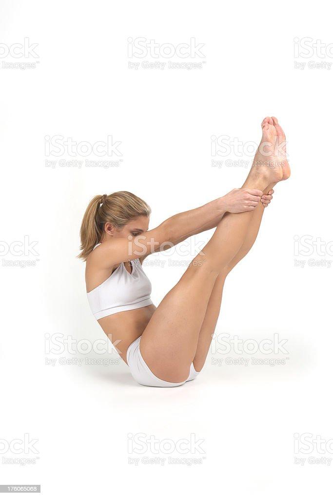 yoga, Boat Position stock photo