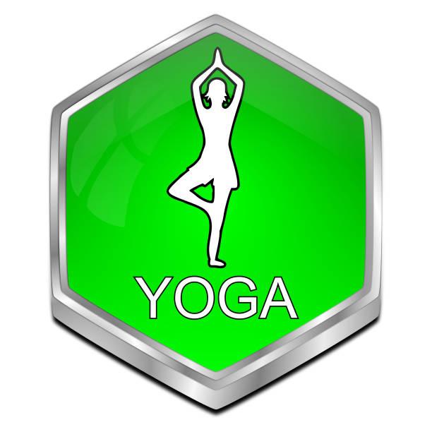 yoga-button-3d-illustration - blackroll übungen stock-fotos und bilder