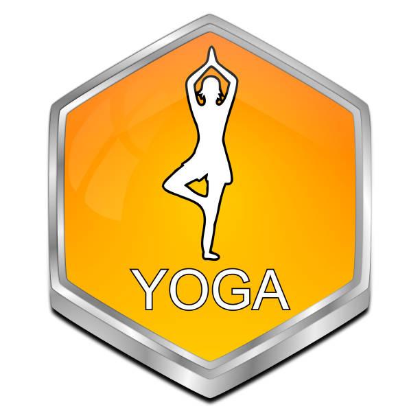 """schaltfläche """"yoga"""" - 3d illustration - blackroll übungen stock-fotos und bilder"""