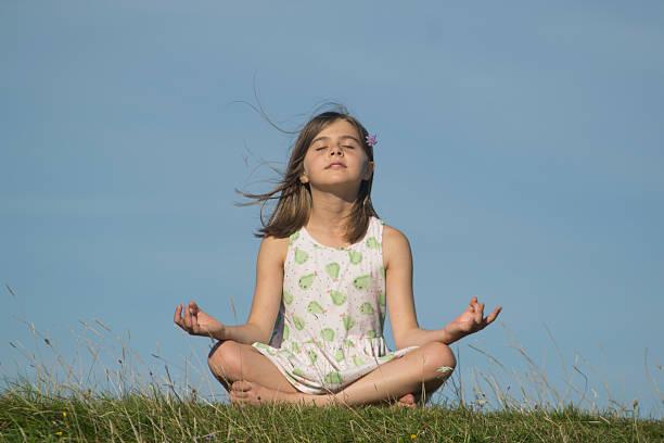 Yoga Child stock photo