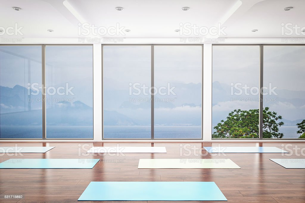 Yoga Class Interior stock photo