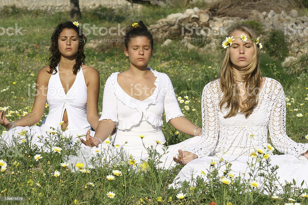 yoga class (series) royalty-free stock photo