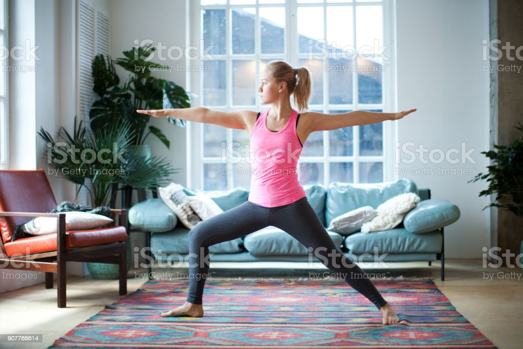 Yoga classes stock photo