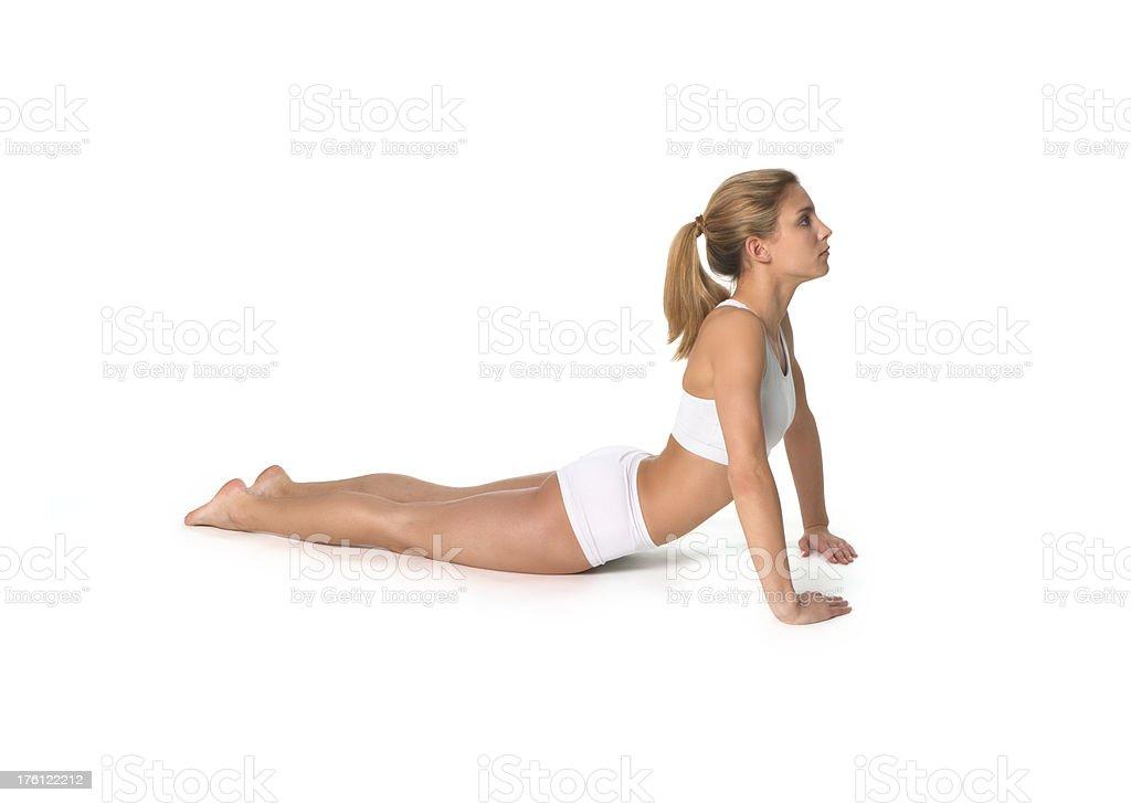 yoga, Cobra Pose stock photo