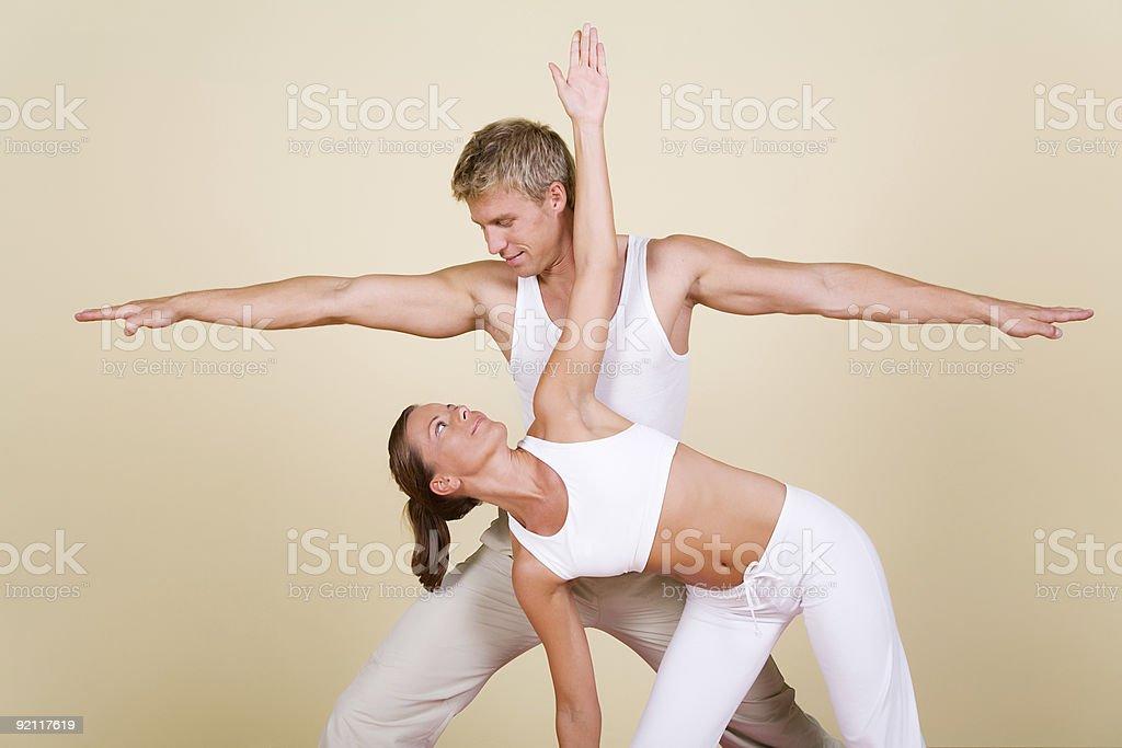 Yoga Couple stock photo