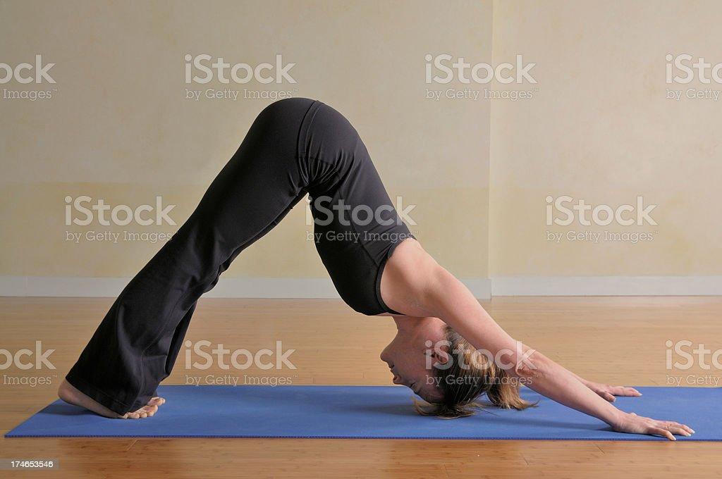 Yoga downward dog royalty-free stock photo