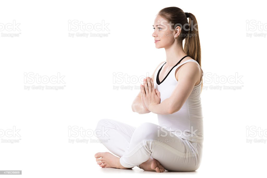 Yoga Easy Pose stock photo