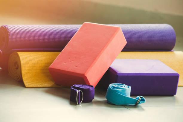 yoga equipment stock photo