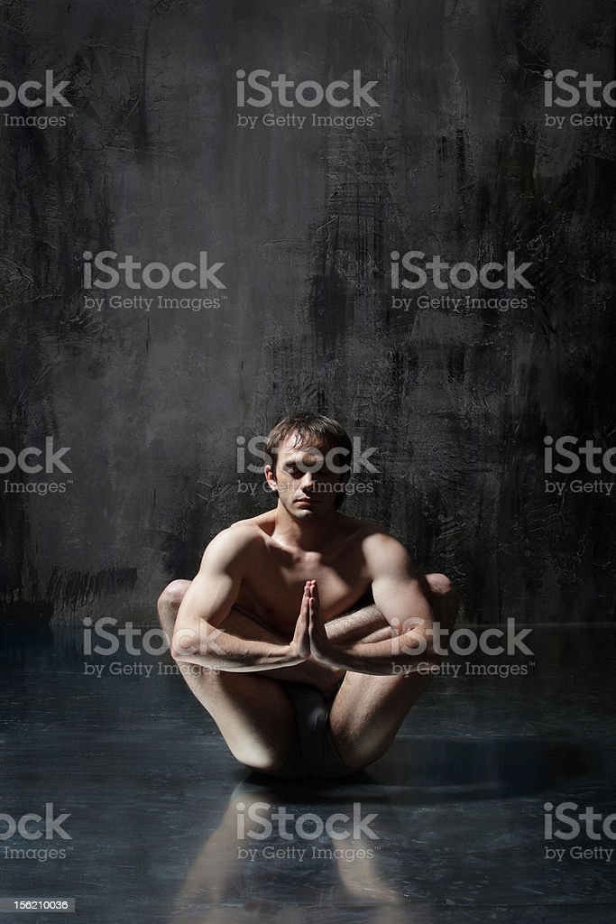 Yoga exercise royalty-free stock photo