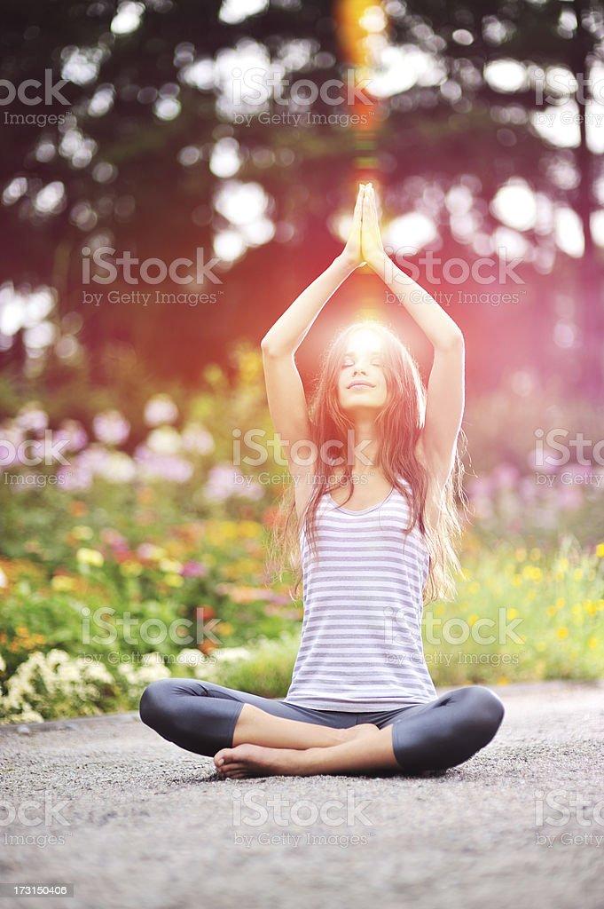 Yoga exercise royalty-free stock photo