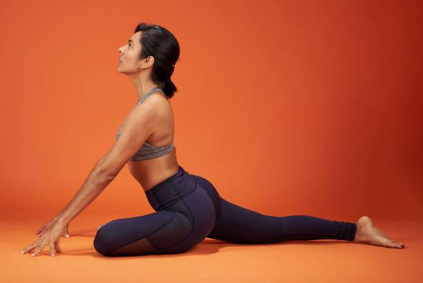 Yoga exercise theme stock photo