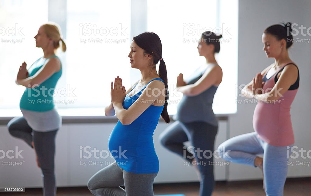 Yoga for pregnant stock photo