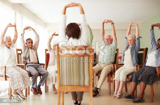 istock Yoga for the elderly 467597841